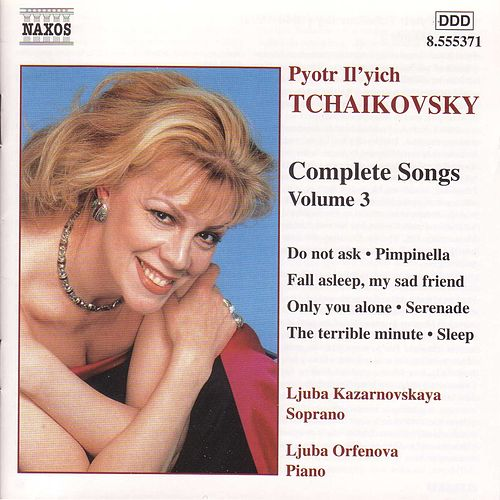 Complete Songs Vol. 3 by Pyotr Ilyich Tchaikovsky