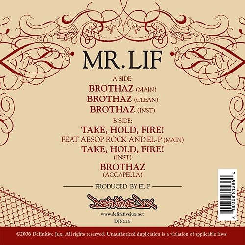 Brothaz Single by Mr. Lif