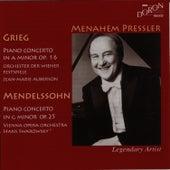 Grieg & Mendelssohn: Piano Concertos by Menahem Pressler