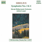 Symphonies Nos. 3 and 4 by Jean Sibelius