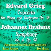 Grieg: Concerto for Piano and Orchestra, Op. 16 & Brahms: Symphony No. 4, Op. 98 by Various Artists