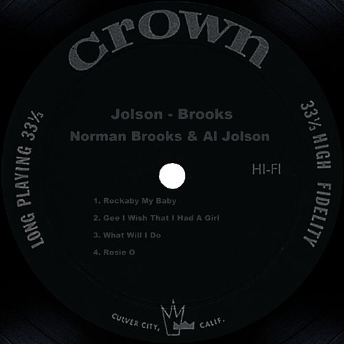 Jolson - Brooks by Al Jolson