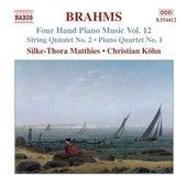 BRAHMS: Four-Hand Piano Music, Vol. 12 by Silke-Thora Matthies