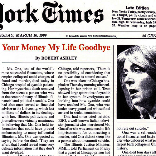 Your Money My Life Goodbye by Robert Ashley