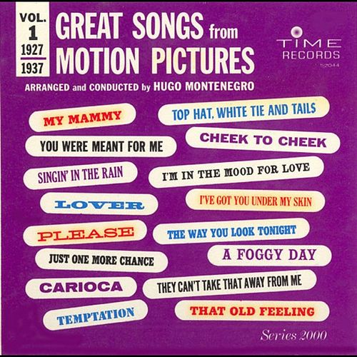 Great Songs From Motion Pictures 1 by Hugo Montenegro