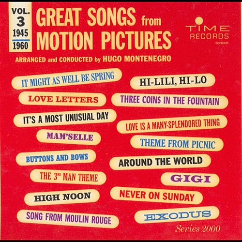 Great Songs From Motion Pictures 3 by Hugo Montenegro