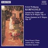 KORNGOLD: Violin Sonata, Op. 6 / Piano Quintet, Op. 15 by Andras Kiss