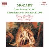 MOZART: Gran Partita / Divertimento, K. 205 by Various Artists