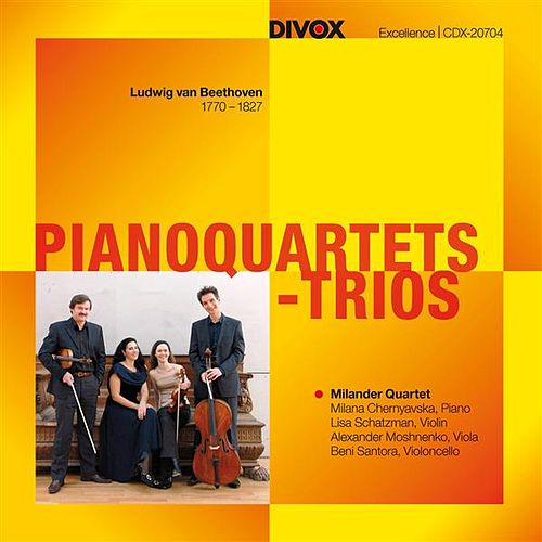 Beethoven: Piano Quartets & Trios by Milander Quartet