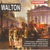 Walton:  Belshazzar's Feast; Cello Concerto; Crown Imperial; Orb & Sceptre; Coronation Te Deum; Symph. No. 1 by Sir William Walton