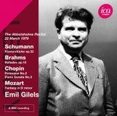 Schumann, Brahms, Chopin & Mozart: Piano Works by Emil Gilels