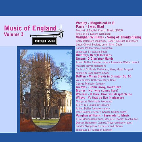 Music of England, Vol. 3 by Various Artists