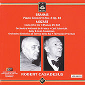 Brahms: Piano Concerto No. 2 - Mozart: Concerto for Three Pianos by Robert Casadesus
