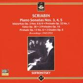 Scriabin: Piano Sonatas Nos 3,4,5 by Vladimir Sofronitsky