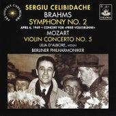 Mozart: Violin Concerto No. 5 - Brahms: Symphony No. 2 by Sergiu Celibidache