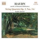 String Quartets Op. 3, Nos. 3-6 by Franz Joseph Haydn
