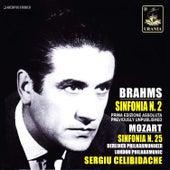 Brahms: Symphony No. 2 - Mozart: Symphony No. 25 by Sergiu Celibidache
