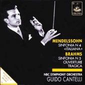 Mendelssohn: Symphony No. 4 & Brahms: Symphony No. 3 by Guido Cantelli