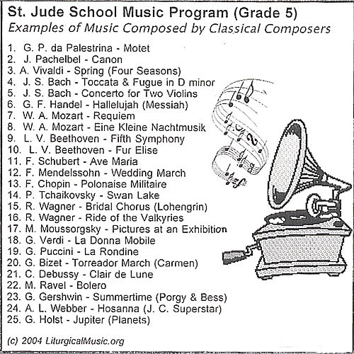St. Jude School Music Program by Various Artists