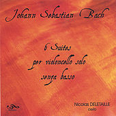 Bach cello 6 suites (double disc) by Nicolas Deletaille