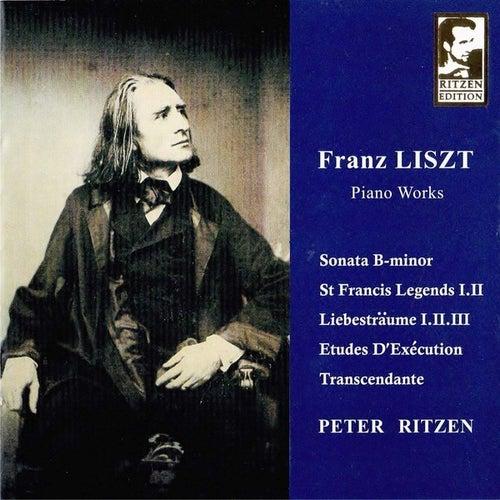 LISZT Piano Works (B-Minor Sonata/ St-Francis Legends I-II/ Liebestraume I-II-III, 12 Études d'Exécution Transcendante complete edition) by Peter Ritzen