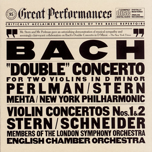 Bach: 'Double' Concerto for Two Violins in D minor; Violin Concertos Nos. 1 & 2 by Various Artists