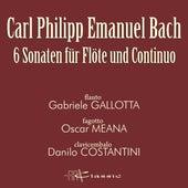 Carl Philipp Emanuel Bach: 6 Sonaten für Flöte und Continuo by Oscar Meana Gabriele Gallotta