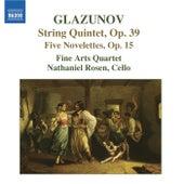 GLAZUNOV: 5 Novelettes / String Quintet, Op. 39 by Fine Arts Quartet