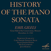 History of the Piano Sonata (Live) by Emil Gilels