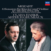 Mozart: 4 Violin Sonatas for Piano and Violin, Nos.18, 21, 24 & 26 by Clara Haskil