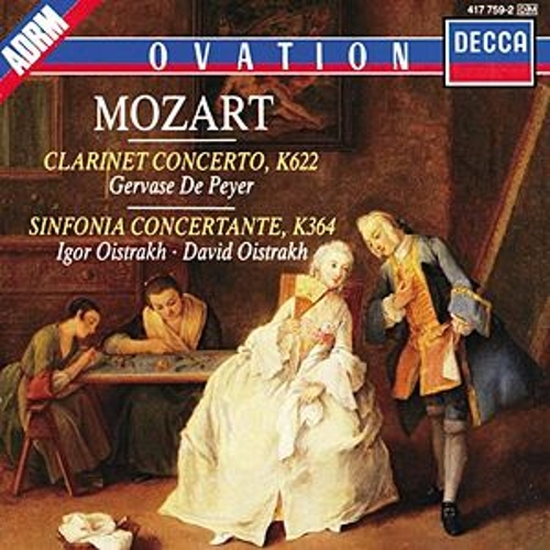 Mozart: Clarinet Concerto / Sinfonia Concertante by Various Artists