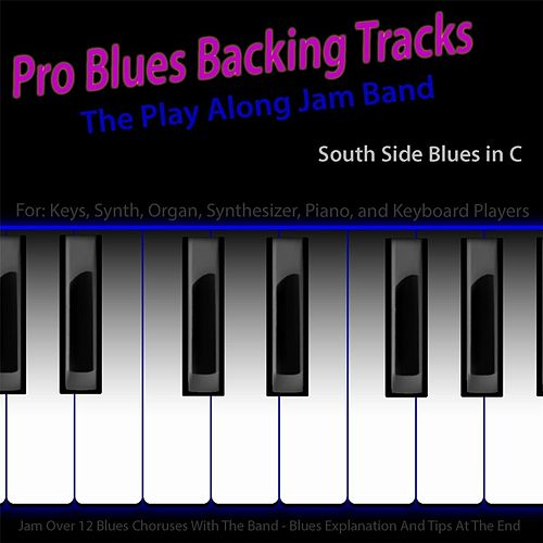 Pro Blues Backing Tracks (South Side Blues in C) [12 Blues Choruses] [For Piano Players] by The Play Along Jam Band