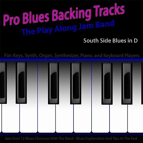 Pro Blues Backing Tracks (South Side Blues in D) [12 Blues Choruses] [For Piano Players] by The Play Along Jam Band