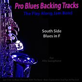 Pro Blues Backing Tracks (South Side Blues in F) [12 Blues Choruses With Tips for Alto Saxophone Players] by The Play Along Jam Band