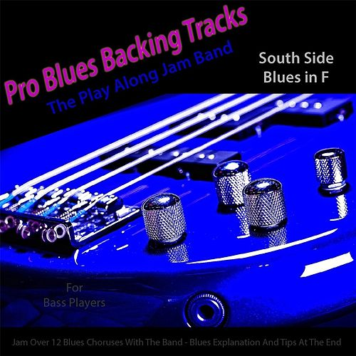 Pro Blues Backing Tracks (South Side Blues in F) [12 Blues Choruses With Tips for Bass Players] by The Play Along Jam Band