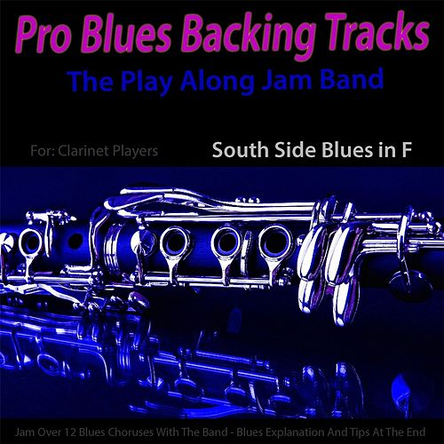 Pro Blues Backing Tracks (South Side Blues in F) [12 Blues Choruses With Tips for Clarinet Players] by The Play Along Jam Band