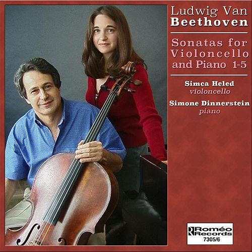 Beethoven Sonatas for Violoncello and Piano 1-5 by Simone Dinnerstein