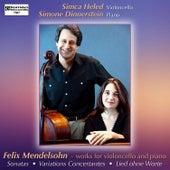 Felix Mendelssohn - Works for Cello and Piano von Simone Dinnerstein