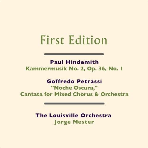 Paul Hindemith: Kammermusik No. 2, Op. 36, No. 1 - Goffredo Petrassi: 'Noche Oscura,' Cantata per Coro Misto e Orchestra (Cantata for Mixed Chorus & Orchestra) by Various Artists