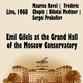 Emil Gilels at the Grand Hall of the Moscow Conservatory by Emil Gilels