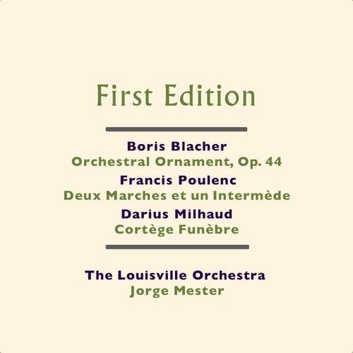 Boris Blacher: Orchestral Ornament, Op. 44 - Francis Poulenc: Deux Marches et un Intermède - Darius Milhaud: Cortège Funèbre by Jorge Mester