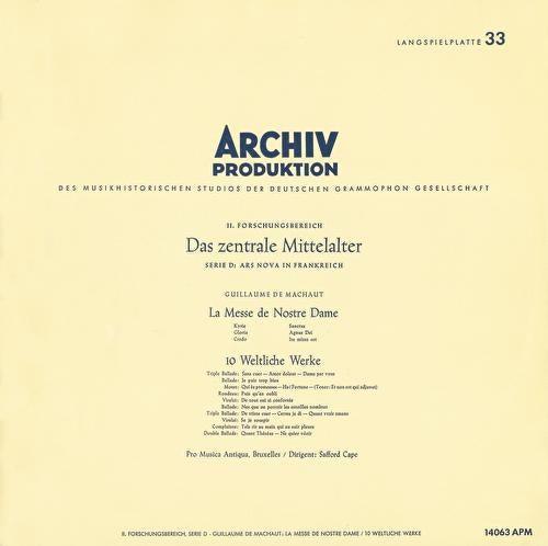 Leonin:Organum Duplum / Perotin: Organum Quadruplum / Machaut: Messe de Nostre Dame / Dufay: 5 Sacred Songs by Various Artists