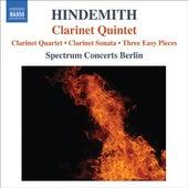 Hindemith, P.: Quartet for Clarinet and Piano Trio / Clarinet Sonata / 3 Leichte Stucke / Clarinet Quintet by Spectrum Concerts Berlin