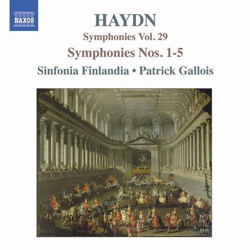 Haydn: Symphonies, Vol. 29 (Nos. 1, 2, 3, 4, 5) by Sinfonia Finlandia Jyvaskyla