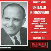 Verdi: Un ballo in maschera (Live Recording 1947) by Various Artists