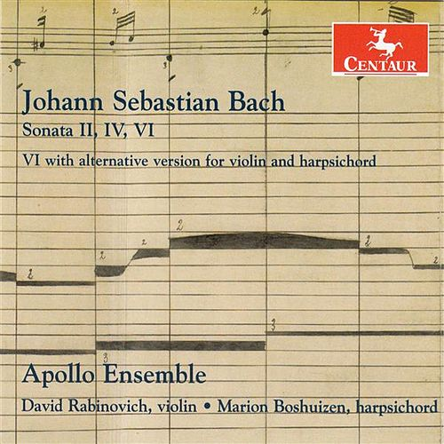 J.S. Bach: Sonatas for Violin & Harpsichord by David Rabinovich