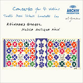 Torelli / Mossi / Valentini / Locatelli / Leo: Concertos for 4 violins by Musica Antiqua Köln