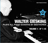 Beethoven: Piano Sonatas, Vol. 1 by Walter Gieseking