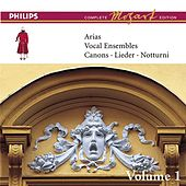 Mozart: Arias, Vocal Ensembles & Canons - Vol.1 by Various Artists