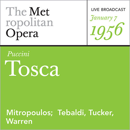 Puccini: Tosca (January 7, 1956) by Giacomo Puccini